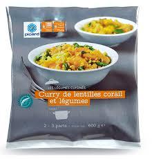 plat cuisiné picard curry de lentilles corail et légumes picard mamy nadine cuisine