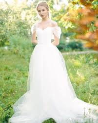 discount simple princess white wedding dresses off the shoulder a