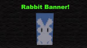 rabbit banner minecraft how to craft a rabbit banner