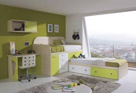 contemporary large kids bedroom design with exciting modern beds