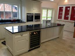 kitchen island worktops uk kitchen island black granite worktop integrated wine fridge