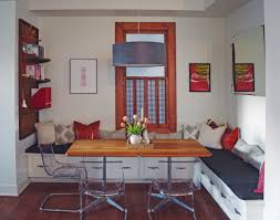 this dining room doubles as a home office