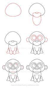 to draw a monkey