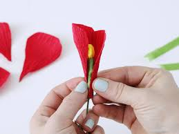 crepe paper flowers how to make flowers using crepe paper hgtv