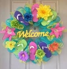 flip flop wreath summer flip flop wreaths what a craft to hang on a door