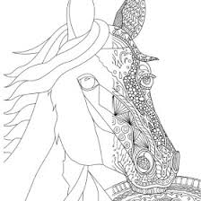 zen patterns coloring pages zentangle horse coloring page for adults plus bonus easy horse