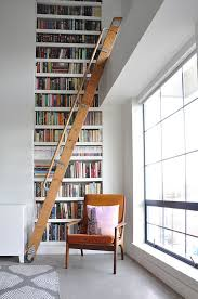 Wooden Ladder Bookshelf Plans by Best 25 Library Ladder Ideas On Pinterest Library Bookshelves