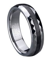 carbon fiber wedding rings 6mm s tungsten wedding ring with black carbon fiber inlay