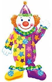 clown balloon smiling clown purple orange 33 mylar balloon