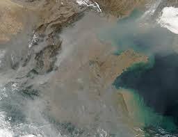 pollution over east china image of the day