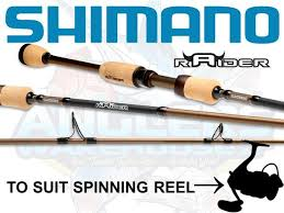 ultra light rod and reel shimano raider 662 ultra light spin rod anglers warehouse