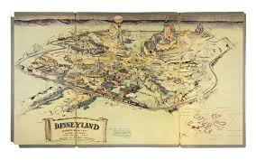 Map Of Walt Disney World by The Map Of Disneyland That Walt Disney Designed In 1953 Is Going