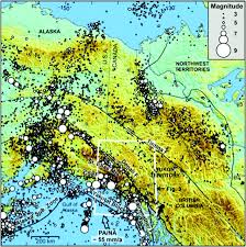 Southwest Canada Map by Microseismicity And Tectonics Of Southwest Yukon Territory Canada