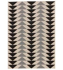 Black And White Outdoor Rug Bold Arrow Indoor Outdoor Rug Black