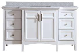 jospeh carrara marble bathroom vanity gray 48