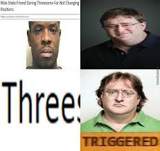 Gabe Newell Memes - gabe newell triggered comics know your meme