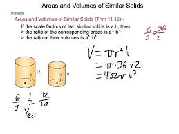 geometry 11 7 areas and volumes of similar solids youtube