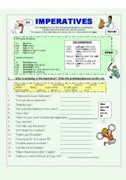 english teaching worksheets imperatives