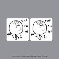 Fap Fap Memes - sku2291 2 x fap fap fap meme stickers decals badges 50mm x