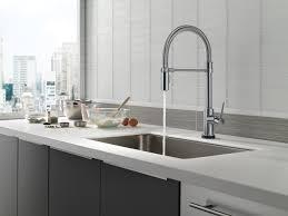 delta brushed nickel kitchen faucet bathroom brushed nickel centerset delta trinsic kitchen faucet single