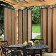 espresso bamboo outdoor curtain 40 x 84 drapes outdoor