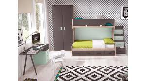 bureau superposé lit enfant superposé avec bureau moderne glicerio so nuit
