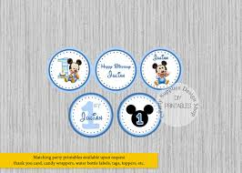 baby mickey 1st birthday baby mickey 1st birthday cupcake toppers baby mickey birthday
