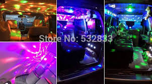 12v led disco lights 3w rgb music rhythm activated dj disco stage effects cigar lighter
