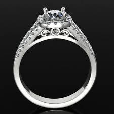 pave 3d models 3d pave halo engagement micro pave diamond ring 0171 3d model 3d printable