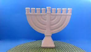 ceramic menorah ceramic menorah unpainted 9 25 inches wide handmade hanukkah
