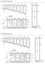 Standard Height For Cabinets Woodcraft Custom Kitchen Cabinet Measurements