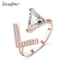 aliexpress buy beagloer new arrival ring gold beagloer party rings cubic zirconia simple gold color
