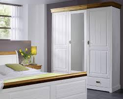 Schlafzimmerschrank Reinigen Kleiderschrank Schrank 3 Türig Kiefer Massiv Weiß Honig