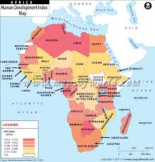 africa map 2014 map of countries by human development index