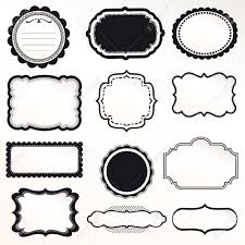 halloween border black and white 14846606 vector frame set ornamental vintage decoration stock