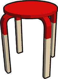 clipart ikea stuff frosta stool half red