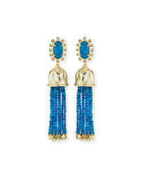 statement earrings kendra decker beaded tassel statement earrings