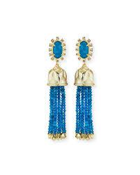 kendra decker beaded tassel statement earrings