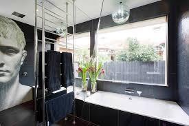 Huge Bathtub Bathroom White Luxurious Bathtub Huge Glass Window And Stainless