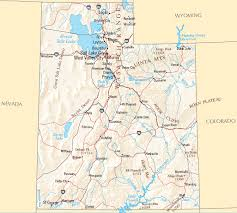 Utah rivers images Utah map map of utah gif