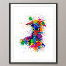 Map Of Wales Wales Paint Splashes Map By Artpause Notonthehighstreet Com