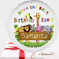 personalised birthday balloons send personalised birthday balloon in a box inflated and free