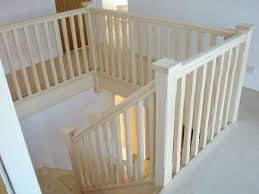 Banisters Uk Staircase Traditional Style Handrails Stop Chamfered Balusters
