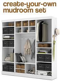 using an ikea cube bookshelf as mudroom cubbies