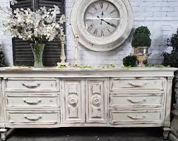 White Shabby Chic Furniture by Distressed Dresser Etsy