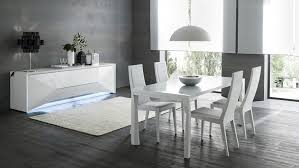 modern italian table with three positions and leather chairs