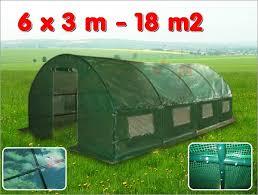 serre tunelle de jardin serre de jardin tunnel 18 m2 6x3x1 9 m effet de serre acier