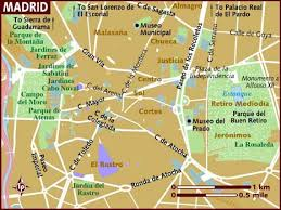 madrid spain map map of madrid