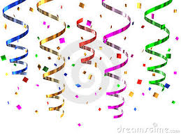 party streamers party streamers clipart