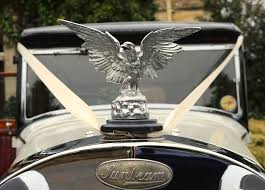 eagle ornament on vintage sunbeam automobile photograph by